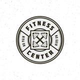 Vintage fitness gym logo. retro styled sport emblem. vector illustration. Vintage fitness gym logo. retro styled sport emblem, badge, logotype template. vector vector illustration