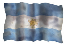 Vintage Flag of Argentine Stock Photos