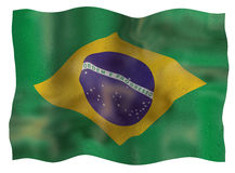 Vintage Flag of Brazil Stock Photo