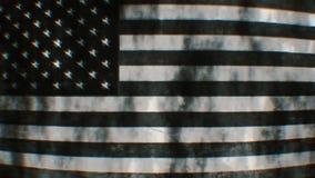 Vintage flag of usa waving stock video