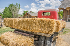 Vintage Flatbed Truck With Hay Stock Photos