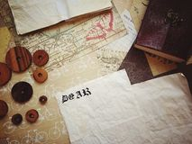 Vintage Letter royalty free stock images