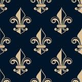 Vintage fleur de lys seamless pattern Stock Images
