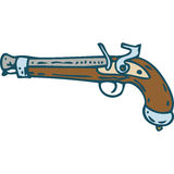 Vintage Flintlock Pistol or Musket Royalty Free Stock Photo