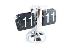 Vintage Flip Clock Foto de Stock Royalty Free