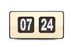 Vintage Flip Clock rendição 3d Foto de Stock Royalty Free
