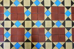 Vintage Floor Tiles Abstract Background Stock Photo