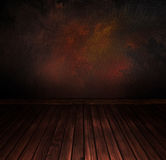 Vintage floor with wall. Art abstract background Stock Photo