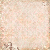 Vintage Floral and angels Wallpaper Stock Image