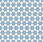 Seamless Dark Blue Vintage Snowflakes Pattern Background royalty free illustration