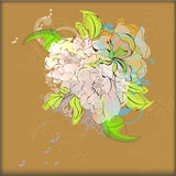 Vintage floral background Royalty Free Stock Photo