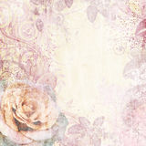 Vintage floral background. In purple  with rose Royalty Free Stock Photography