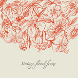 Vintage floral background. Vintage style graphic floral border Stock Photos