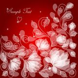 Vintage floral background. Vintage cute floral background with beautiful flowers Stock Images