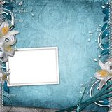 Vintage Floral Background. With Frame Royalty Free Stock Photo