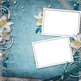Vintage Floral Background. With 2 Frames Royalty Free Stock Images