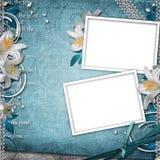 Vintage Floral Background. With 2 Frames royalty free illustration