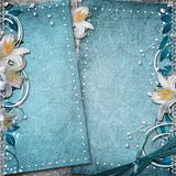 Vintage Floral Background. With Flowers, Lace, Ribbon Royalty Free Stock Image