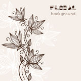 Vintage Floral Background With Abstract Flowers Stock Photos