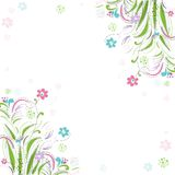 Vintage floral background. Beautiful frame with Royalty Free Stock Photos