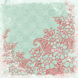 Vintage floral background christmas theme Stock Photo