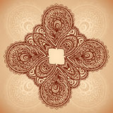 Vintage floral background with doodle flowers Stock Image