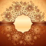 Vintage floral background with doodle flowers Royalty Free Stock Image