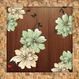 vintage floral background with flowers stock illustration