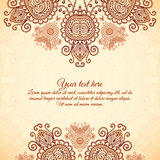 Vintage floral background in Indian mehndi style Royalty Free Stock Photography