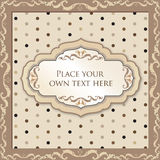 Vintage floral background with label and copy space Stock Photo