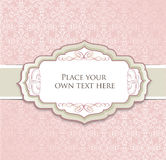 Vintage floral background with label and copy space Royalty Free Stock Photos