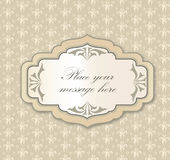 Vintage floral background with label and copy space Royalty Free Stock Image