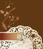 Vintage floral background with old serviette. Stock Photography