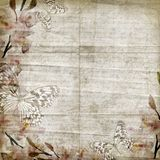 Vintage floral background with orchids Royalty Free Stock Photography