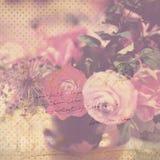 Vintage flower background Stock Image