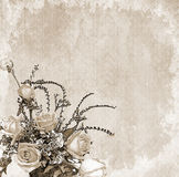 Vintage floral background. Vintage romantic background with flowers Royalty Free Stock Image
