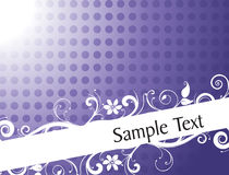 Vintage floral background for sample text Royalty Free Stock Photography