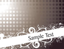 Vintage floral background for sample text Stock Photos