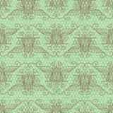 Vintage floral background. Seamless hand drawnpattern. Stock Photography