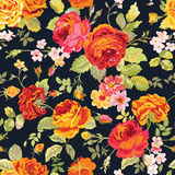 Vintage Floral Background. Seamless pattern for design, print, scrapbook - in vector Royalty Free Stock Photography