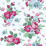 Vintage Floral Background. Seamless pattern for design and scrapbook - in vector Royalty Free Stock Photo