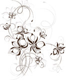 Vintage floral background, vector illustration Royalty Free Stock Photo