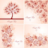 Vintage floral backgrounds stock illustration