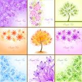 Vintage floral backgrounds. Set of vintage floral backgrounds Stock Images