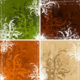 Vintage floral backgrounds Stock Images