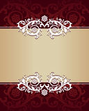 Vintage floral banner. Vector illustration Royalty Free Stock Photography