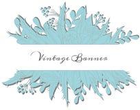 Vintage floral banner Stock Image
