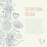 Vintage floral banner. Seamless pattern. Stock Image