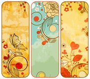 Vintage floral banners Stock Photography