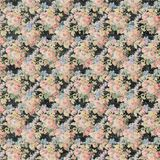 Vintage Floral black and pink roses repeat background shabby chic style Royalty Free Stock Image